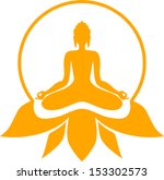 buddha sitting in a lotus...   Shutterstock .eps vector #153302573