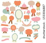 set of retro ribbons labels... | Shutterstock .eps vector #153306887