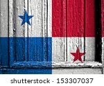 flag of panama painted on... | Shutterstock . vector #153307037