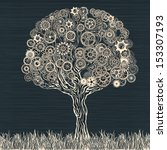tech tree. | Shutterstock .eps vector #153307193