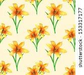 watercolor seamless pattern... | Shutterstock . vector #153317177