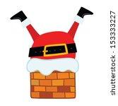 santa claus stuck in the... | Shutterstock .eps vector #153333227
