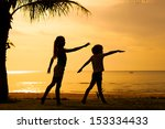 happy children playing on the... | Shutterstock . vector #153334433