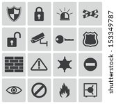 vector black  security icons set | Shutterstock .eps vector #153349787