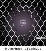chain link fence vector. Realistic Wire Chain Link Fence Vector Texture On Dark Background. E