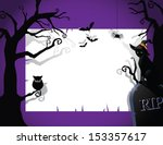 halloween party invitation... | Shutterstock .eps vector #153357617