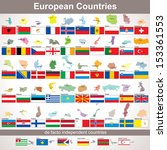 european countries with flags....
