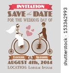 vintage wedding invitation 2 | Shutterstock .eps vector #153362993