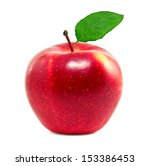 Fresh Red Apple On A White...