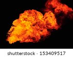 fire burning from a chimney in... | Shutterstock . vector #153409517