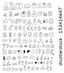 set of various icons | Shutterstock .eps vector #153414647