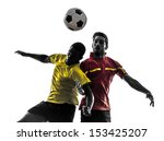 two men soccer player playing... | Shutterstock . vector #153425207