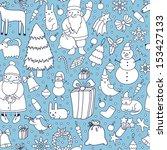 christmas seamless pattern | Shutterstock .eps vector #153427133
