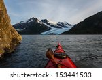Kayaking To Glacier In The...