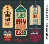 sale tags. vintage style tags... | Shutterstock .eps vector #153451073