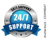 blue twenty four seven support...   Shutterstock .eps vector #153498047
