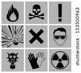 icons warning of danger | Shutterstock .eps vector #153500963