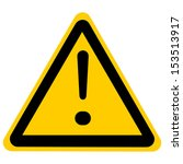 warning sign with exclamation... | Shutterstock . vector #153513917