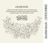 design for wine list. vector... | Shutterstock .eps vector #153514883