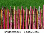 Colorful Garden Fence With...