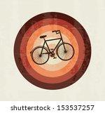 bicycle design over grunge... | Shutterstock .eps vector #153537257