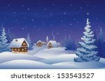 Vector Illustration Of A Snowy...