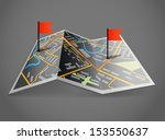 folded abstract dark city map... | Shutterstock .eps vector #153550637