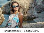 Sexy Woman On A Tropical Beach