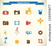 photography icon set in color | Shutterstock .eps vector #153595877