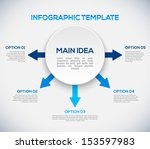 infographics template with... | Shutterstock .eps vector #153597983