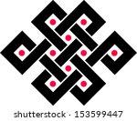 tibetan endless knot  eternal ... | Shutterstock .eps vector #153599447