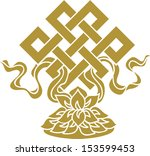 tibetan endless knot  eternal ... | Shutterstock .eps vector #153599453