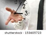 businessman navigating virtual... | Shutterstock . vector #153605723