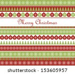 christmas greeting card | Shutterstock .eps vector #153605957