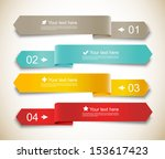 set of ribbons | Shutterstock .eps vector #153617423