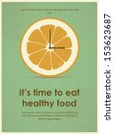 Retro Poster With Citrus For A...