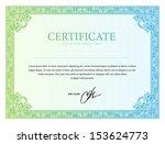 template border diplomas ... | Shutterstock .eps vector #153624773