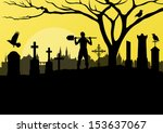 Halloween Spooky Graveyard ...