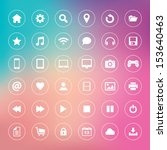 set of icons on colorful... | Shutterstock .eps vector #153640463