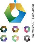 design hexagonal logo element.... | Shutterstock .eps vector #153660533