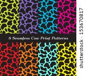 Cow Print Seamless Patterns In...