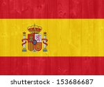 gorgeous spain flag painted on... | Shutterstock . vector #153686687