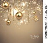 elegant christmas background... | Shutterstock .eps vector #153687107