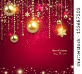 elegant christmas background... | Shutterstock .eps vector #153687203