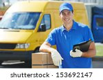 Smiling Young Male Postal...