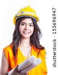 portrait asian engineer with...