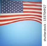 closeup of american flag on... | Shutterstock . vector #153704927