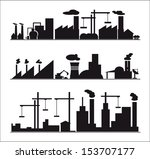 industry icons over white... | Shutterstock .eps vector #153707177