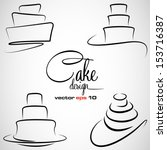 Cake Design Symbol Set In...