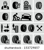 tires icon | Shutterstock .eps vector #153729857